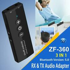 3-in-1 Wireless Bluetooth 5.0 Audio Transmitter Receiver Adapter Aux for Home TV