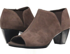 Munro Eve Brown Suede Open Toe Peep Toe Bootie Women's Size 7SS, NEW, MSRP $215