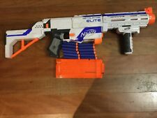 Nerf n-strike elite retaliator blaster gun used outdoor toy with magazine darts