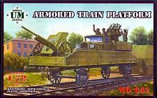 UM-MT Models 1/72 ARMORED TRAIN PLATFORM