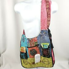 Large tote adjustable strap zipper to make it wider Hobo ethnic festival travel