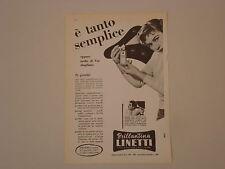 advertising Pubblicità 1958 BRILLANTINA LINETTI