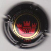 capsule de champagne HENRI GIRAUD, ESPRIT, 1625, noir or et rouge