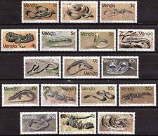 Venda 1986 Mi 120-136 Reptielen, Reptiles MNH