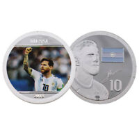 Festival Souvenir Gifts 999.9 Silver Plated Messi Metal Coin for Collections