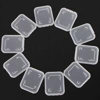 10x Transparent Standard SD SDHC Memory Card Case Holder Box Plastic Tackles *