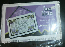 "Serving of Fruit Stoney Creek Cross Stitch Kit Wine 6.25"" x 4"" Perforated Paper"