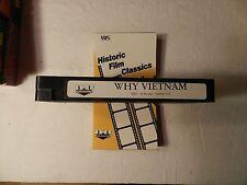 Why Vietnam Vhs Vietnam War Ihf Video