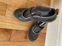 Merrell Paris Black Mary Jane Button Strap Boho Womens 9 Comfort Leather Wool