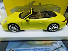 PORSCHE 911 991 Carrera S Cabriolet 2011 2012 gelb yellow Minichamps NEU 1:18