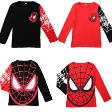 Kids Boys Baby Girls Spiderman Long Sleeve Tops T Shirt Jumper Sweatshirt Autumn