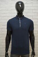 THE NORTH FACE Polo Maglia Uomo Taglia S Maglietta Shirt Herrenhemd Cotone Blu