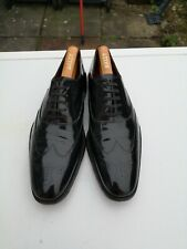GRENSON Men's 100% Patent Leather, Black Lace up Brogues UK 8 F (42).