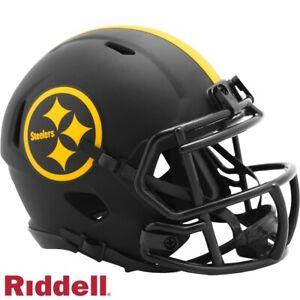 Black Eclipse Mini Football Helmet - NFL - Pittsburgh Steelers