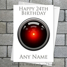 2001: A Space Odyssey personalised birthday card. 5x7 inches. HAL 9000.