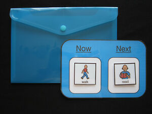A5 Now & Next Board - Autism ADHD Non Verbal Visual Communication PECS Dementia