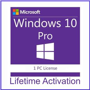 Windows 10 Pro Activation Key 64-Bit Single Use