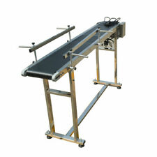 110V Pvc Conveyor System With Double Guardrail 59'Long 7.8'Wide with 2 Fence