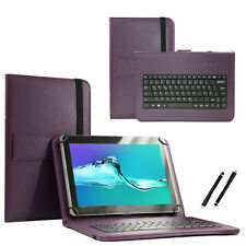 "10.1"" QWERTY Keyboard Case Book Cover For Samsung Nexus 10 - Purple"