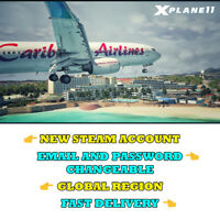 X-Plane 11 - New Steam Account - Global Region - Fast Delivery