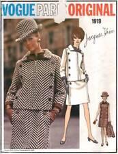 Vogue Paris Original 1919 Vintage Sewing Pattern 1960s Heim Coat Dress Size 16