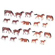 20Pcs 1/87 HO modèle cheval peint échelle animale Figure pour modèles