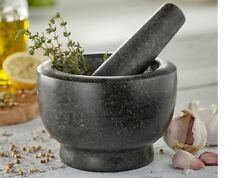 Granite Pestle And Mortar Set Hygenic Kitchen Herbs Spices Grinder Crusher