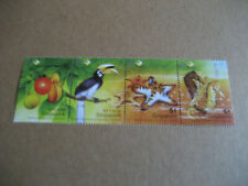 SINGAPORE 2004 FISH.MARINE BIRDS,STARFISH ,SEAHORSE STRIP