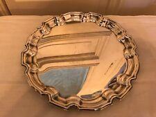 altes rundes Silbertablett Parking Silversmith 1919 ca 31 cm