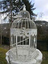 Vogelkäfig Blumenkäfig Pflanz Deko Käfig Antik-weiß Shabby 6eckig ho 50cm eisen