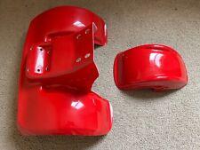 Red Front and rear fiberglass fender set for Honda ATC 70