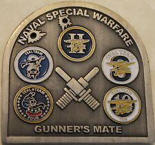 Naval Special Warfare Group Two Gunner's Mate Navy SEALs Challenge Coin / 2