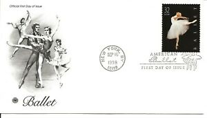 US Scott #3237, First Day Cover 9/16/98 New York Single Ballet