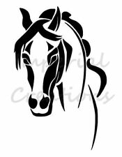 """""""HORSE FACE"""" Equine Animal Breed 8.5"""" x 11"""" Stencil Plastic Sheet NEW S49"""