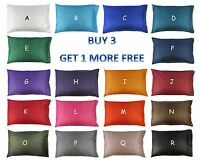 Standard - Queen Silk Pillow Case Cover Cushion Home & Travel Clean Bed