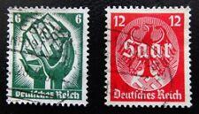 Deutsches Reich Mi 544-545 , Saarabstimmung , Bahnpost gestempelt