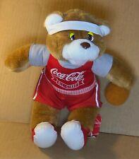 """Vintage Coca Cola All Stars Teddy Bear 1993 11"""" Utah Jazz Basketball Nba Used"""
