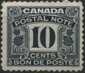 Canada VanDam #FPS12 10c black Postal Note stamp MNH of 1932