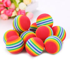 Rainbow Toy Ball Interactive 68mm Cat Dog Toys Play Chew Rattle Scratch EVA