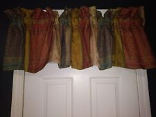 Croscill Home Tailored Valance Beautiful Colors Patchwork Pattern 16.5x86 NEW