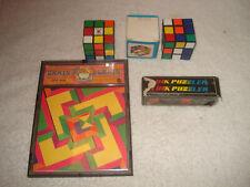 Vintage Rubik's cube Wonderful Link Brain Drain brain teaser puzzles puzzler lot