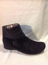 Mephisto Black Ankle Leather Boots Size 8
