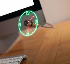 USB LED Clock Fan Office Gadget Desktop Gift