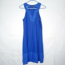 Tommy Bahama Arden Sun Dress Women Size S Blue Embroidered