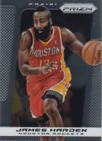 2013-14 PANINI PRIZM #92 JAMES HARDEN HOUSTON ROCKETS NETS 2ND YEAR