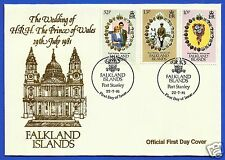 THE WEDDING OF H.R.H. PRINCE CHARLES & LADY DIANA SPENCER, OFFICIAL FDC, 1981