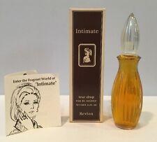 Vintage Revlon Intimate Tear Drop Eau De Toilette Splash 100% Full With Box