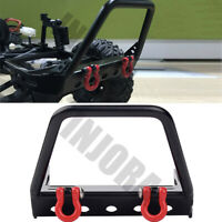 CNC Alloy Metal Front Bumper w/ Winch Mount Shackles for RC Car 1/10 Axial SCX10