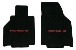 LLOYD Ultimat LICENSED PORSCHE Front Floor Mats 1997 - 2004 Boxster 986 RED LOGO