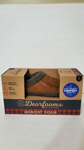 Dearfoam Memory Foam Slippers Large Men